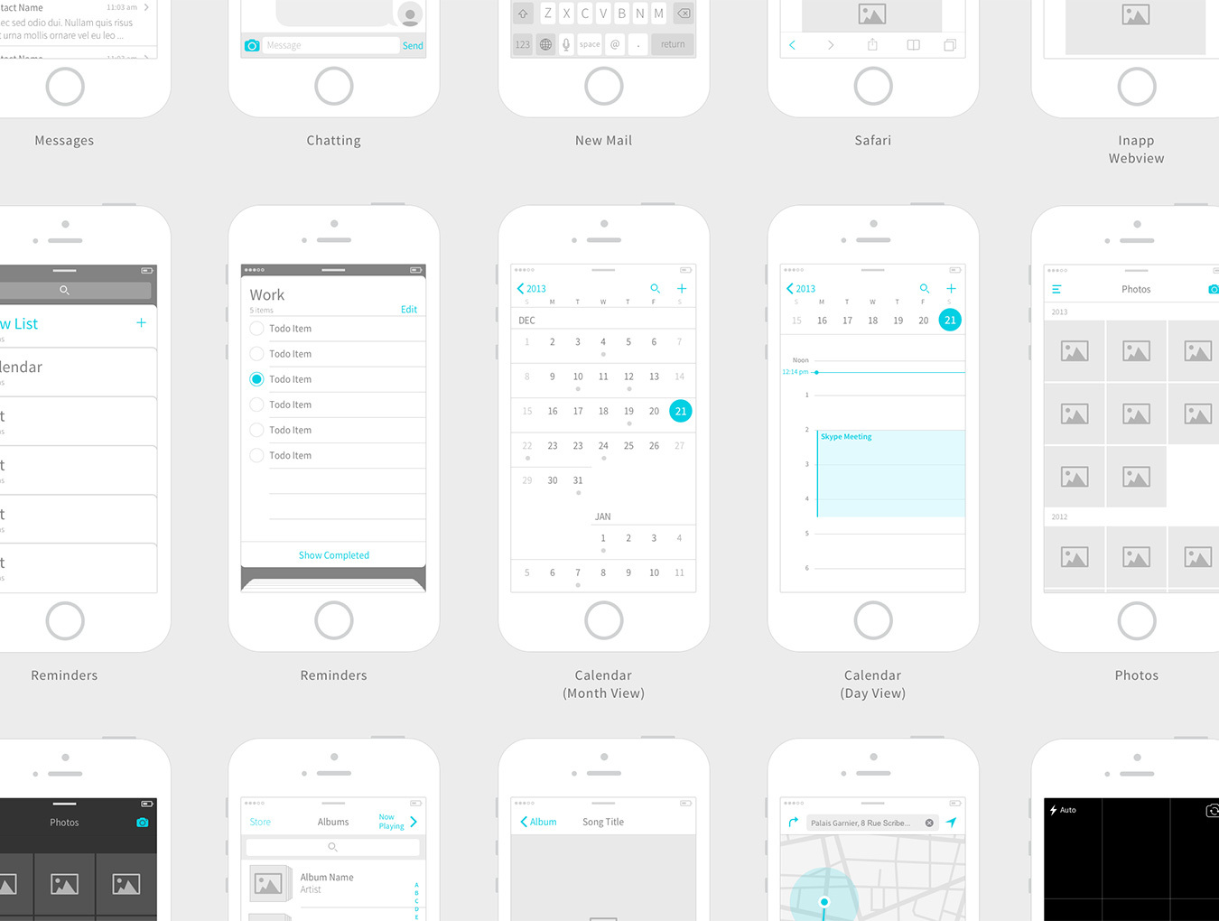Kitchenware Pro IOS Wireframe Kit Kits On UI8