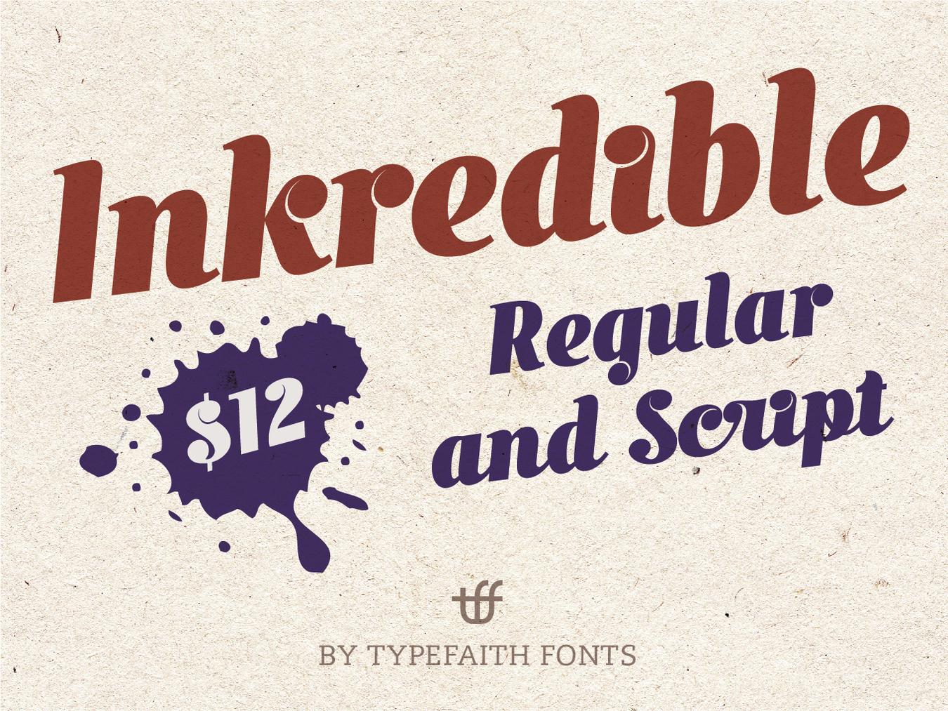 Inkredible — Fonts on UI8